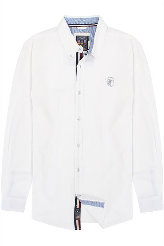 White Santa Monica Polo Club Long Sleeved Shirt