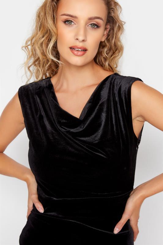 LTS Black Cowl Neck Velvet Dress_D.jpg