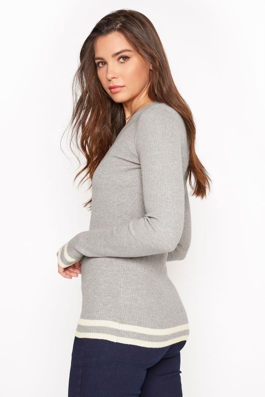 Grey Marl Stripe Hem Ribbed Sweater_C.jpg