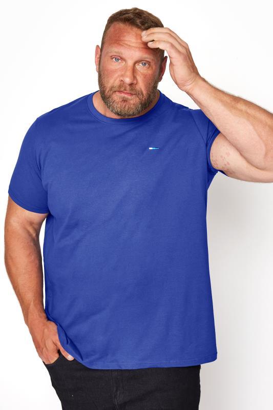 Men's Casual / Every Day BadRhino Royal Blue Plain T-Shirt