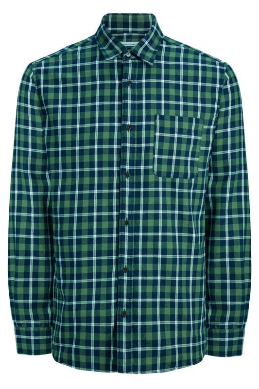 JACK & JONES Green Check Long Sleeve Shirt