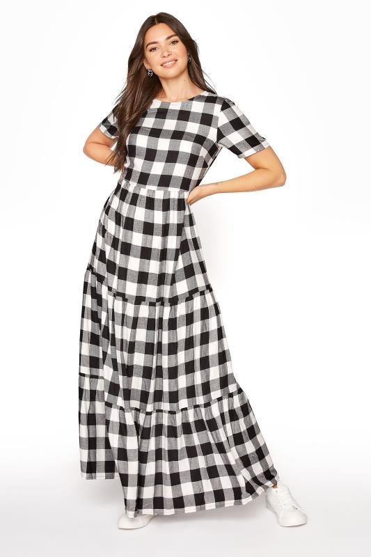 LTS Black Check Tiered Midaxi Dress_A.jpg