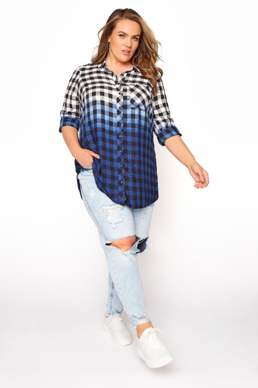 Blue Ombre Check Boyfriend Shirt_B.jpg