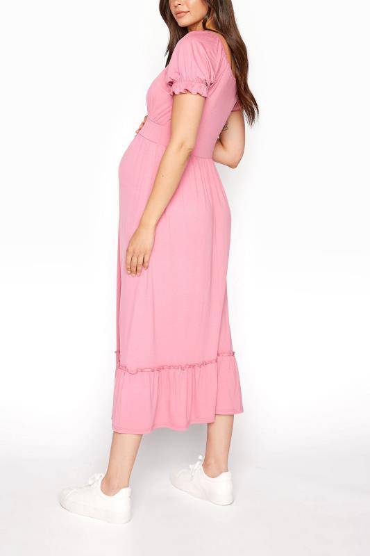 LTS Maternity Dusky Pink Milkmaid Dress_C.jpg