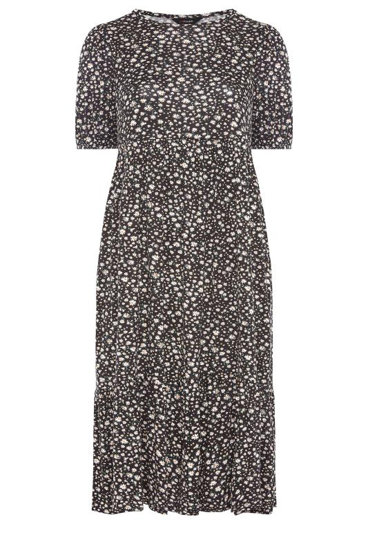 Black Ditsy Puff Sleeve Midaxi Dress_F.jpg