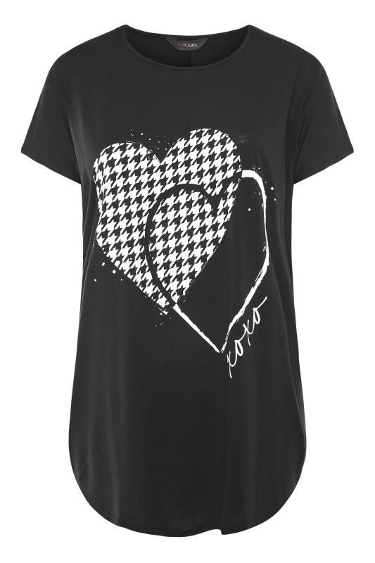 Black Dogtooth Heart Grown On Sleeve T-Shirt_F.jpg