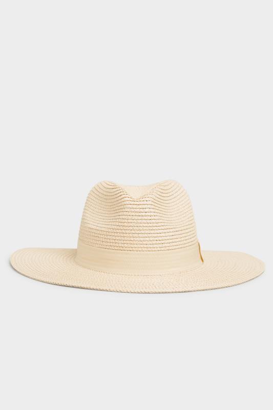 Yours Cream Straw Fedora Hat
