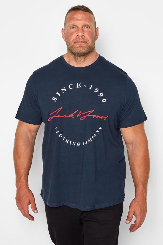 Men's  JACK & JONES Navy Herro T-Shirt