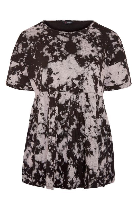 Black Tie Dye Drop Shoulder Peplum Top_F.jpg