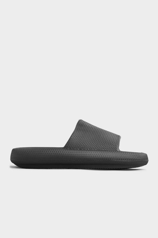 LIMITED COLLECTION Black Eva Sliders In Extra Wide Fit_B.jpg