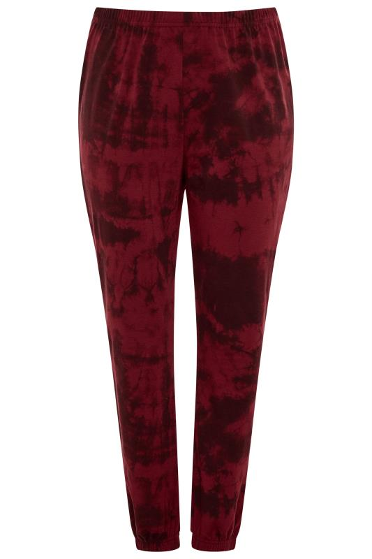 LIMITED COLLECTION Wine Red Tie Dye Joggers