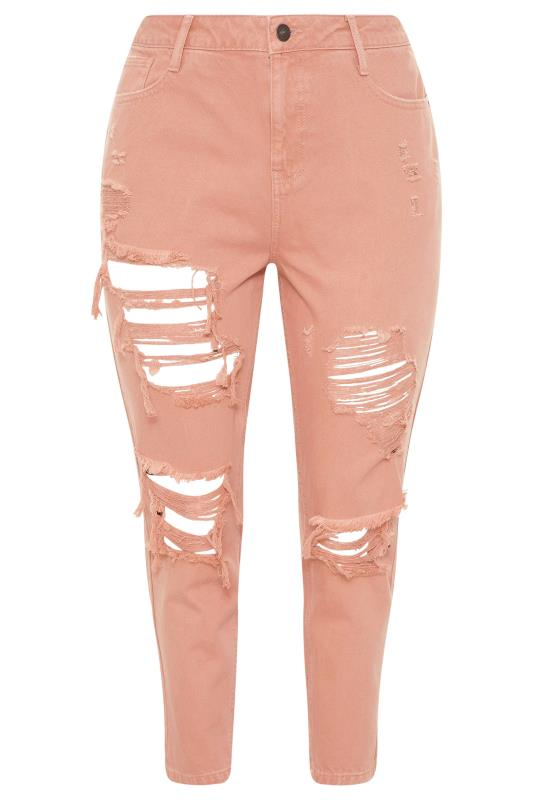 Blush Pink Extreme Distressed MOM Jeans_F.jpg
