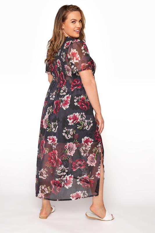 LIMITED COLLECTION Black Floral Shirred Maxi Dress_C.jpg
