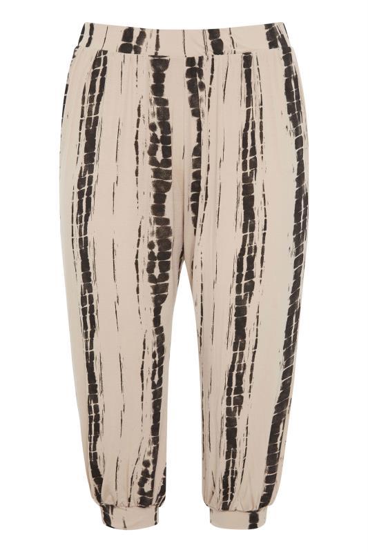 Natural Linear Tie Dye Cuffed Harem Trousers_F.jpg