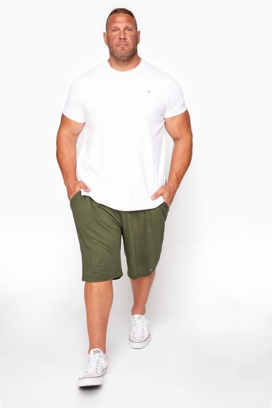 BadRhino Khaki Essential Jogger Shorts