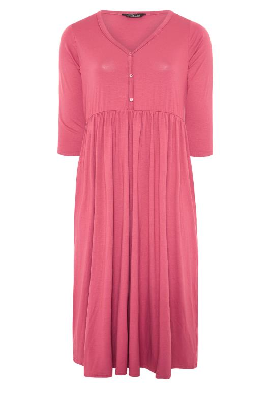 LIMITED COLLECTION Pink Button Midaxi Dress_F.jpg