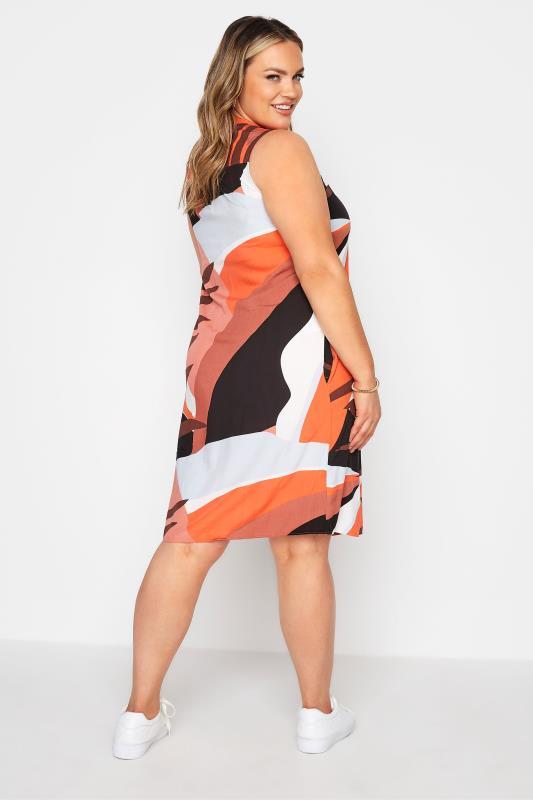 Rust Orange Abstract Midi Dress_C.jpg