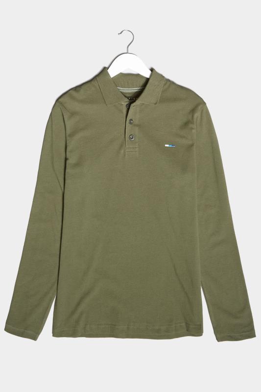 Men's  BadRhino Khaki Essential Long Sleeve Polo Shirt