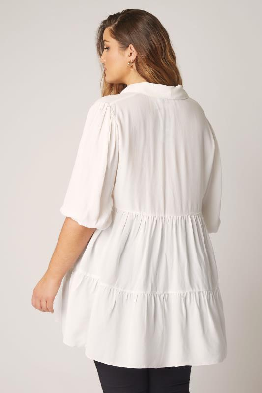 THE LIMITED EDIT White Tiered Smock Tunic Top_C.jpg
