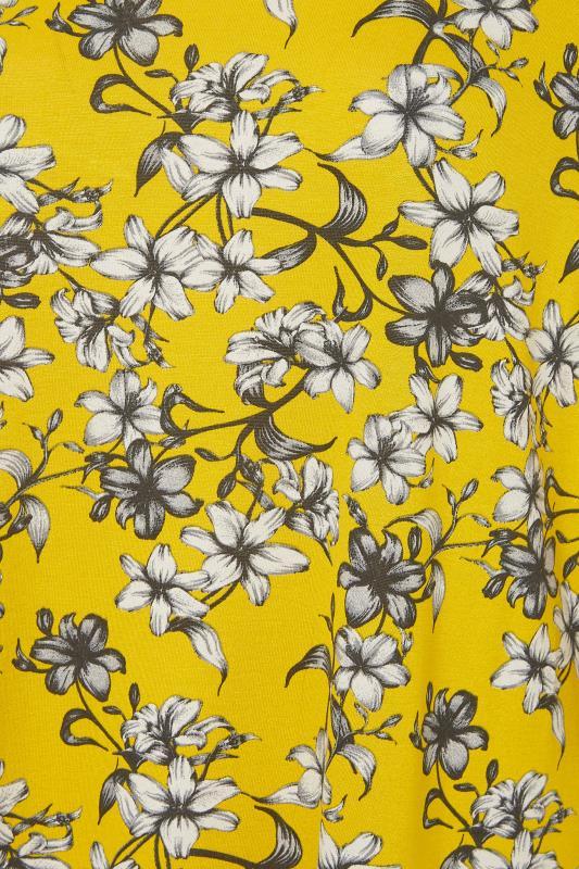 Yellow Floral Split Hem Tunic_S.jpg