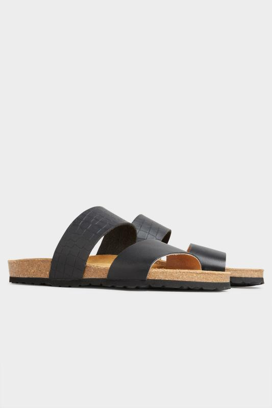 Black Leather Two Strap Footbed Sandals_B.jpg