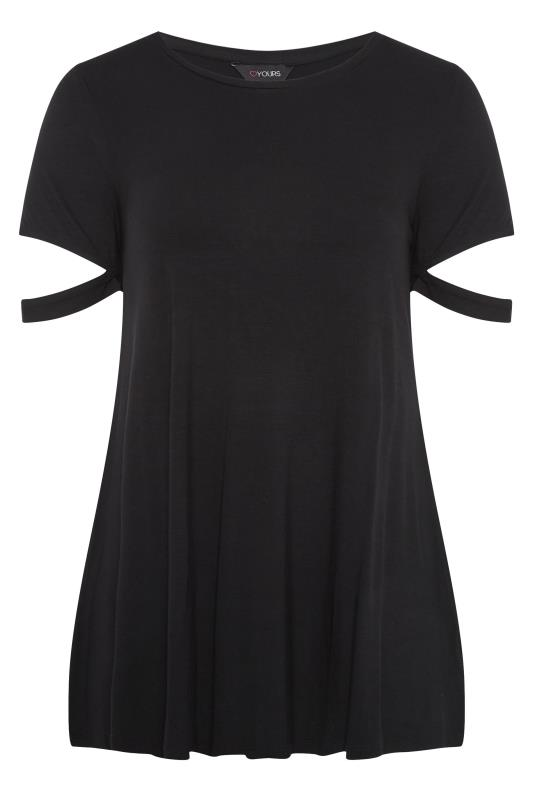 Black Cuff Sleeve Detail T-Shirt_F.jpg