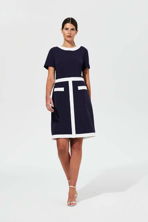 Tall Shift Dress Karl Lagerfeld Paris Navy Colour Block Dress