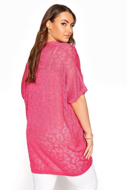 Pink Knitted Pointelle Leopard Print Cardigan_C.jpg