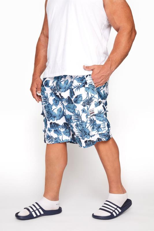 BadRhino White Hibiscus Cargo Swim Shorts_B.jpg