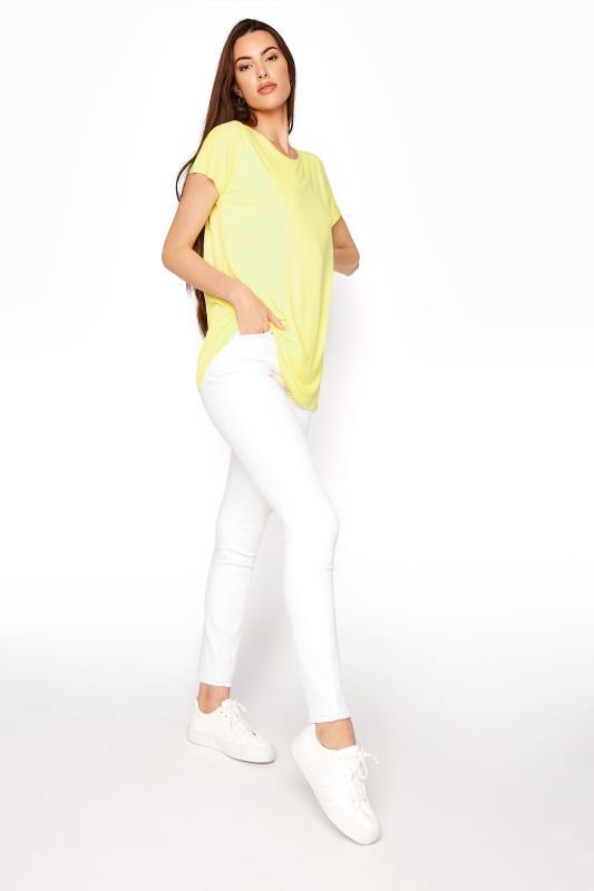 LTS Yellow Soft Touch Grown On Sleeve T-Shirt_B.jpg