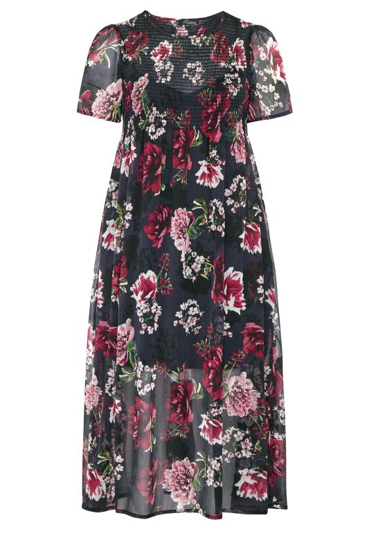LIMITED COLLECTION Black Floral Shirred Maxi Dress_f.jpg