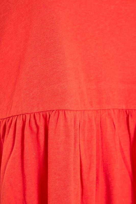 Orange Peplum Drop Shoulder Top_S.jpg