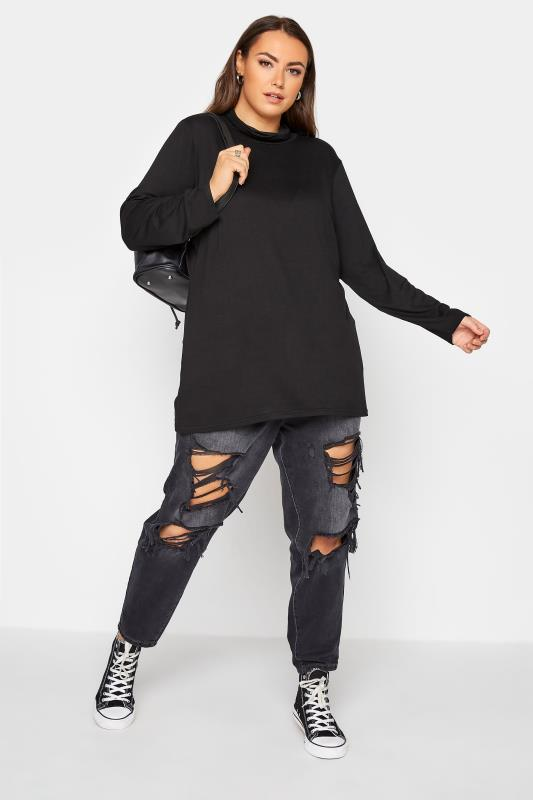 LIMITED COLLECTION Black Turtle Neck Top_B.jpg