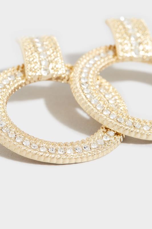Gold Rope Diamante Hoop Earrings_D.jpg
