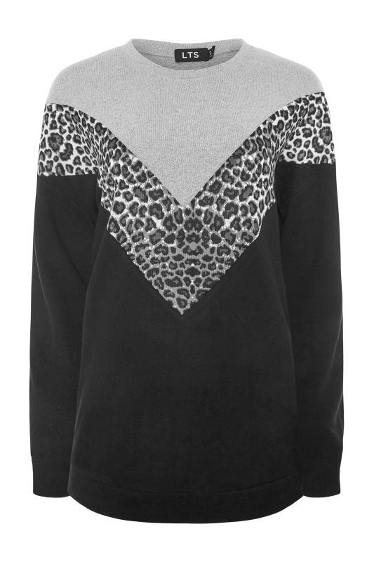 LTS Grey & Black Colour Block Soft Touch Top_F.jpg