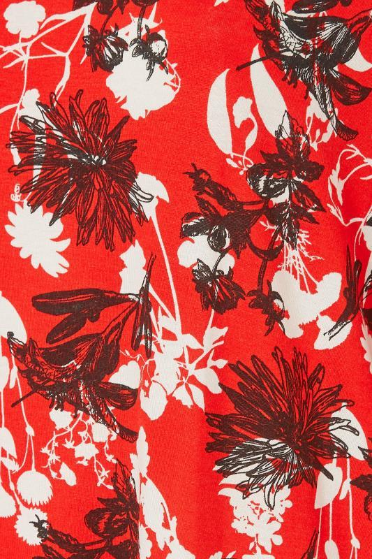 Red Floral Split Hem Tunic_S.jpg
