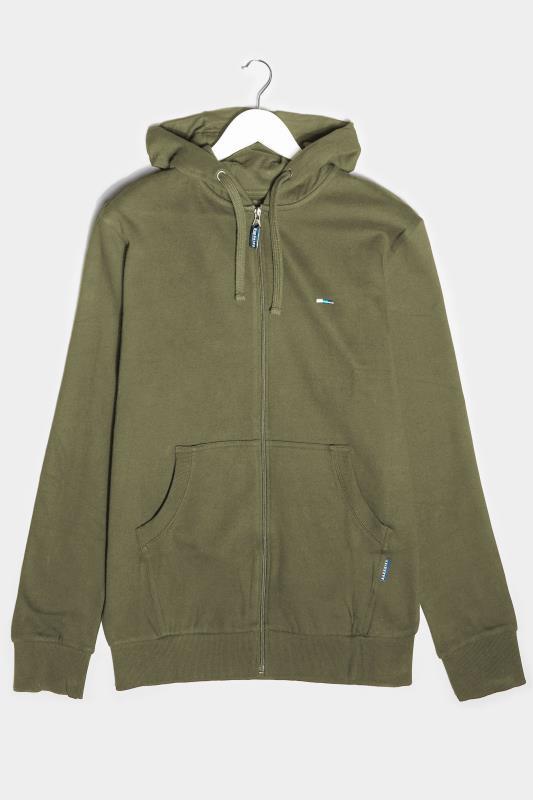 BadRhino Khaki Essential Zip Through Hoodie_F.jpg