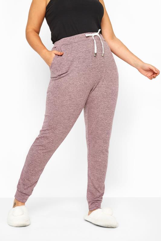 Dusky Pink Marl Jersey Lounge Pants
