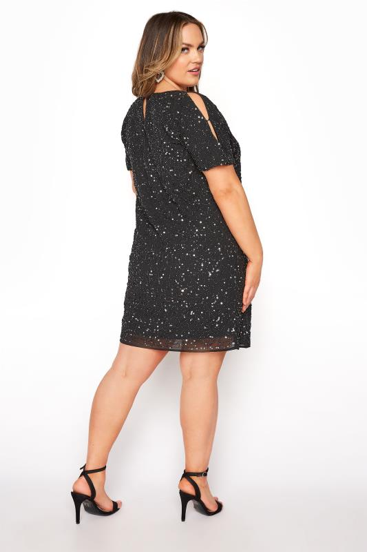 LUXE Black Sequin Cold Shoulder Cape Dress_C.jpg