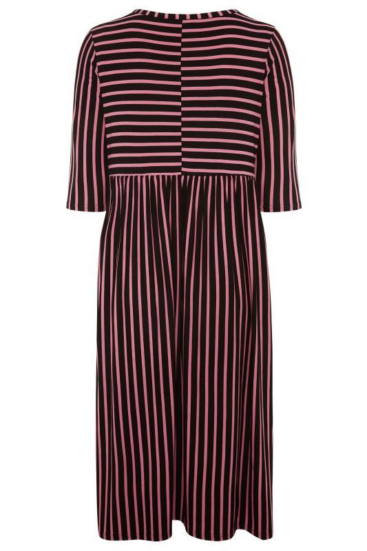 LIMITED COLLECTION Black & Pink Stripe Midaxi Dress_BK.jpg