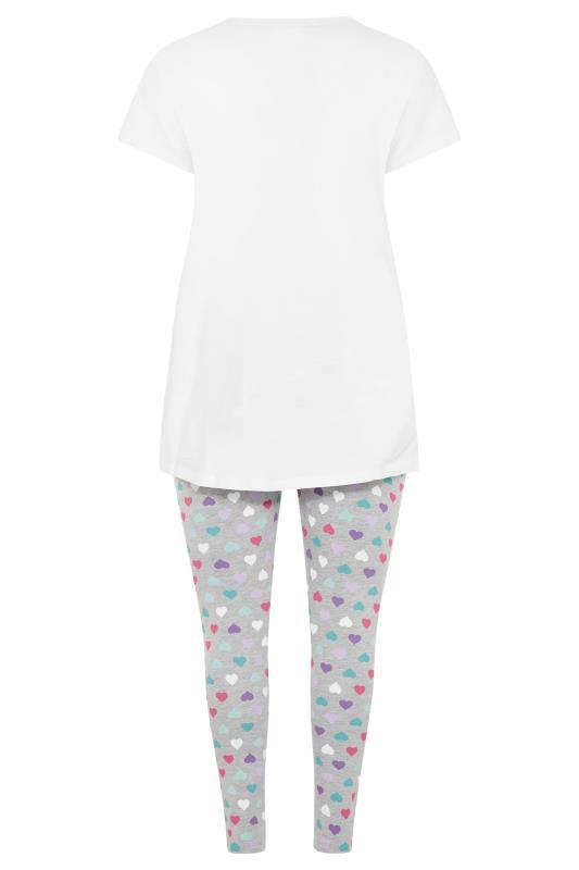 White 'It's Cool To Be Kind' Heart Pyjama Set_BK.jpg