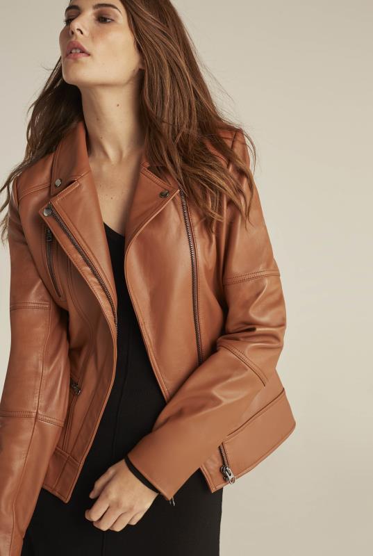 Tall Coats Leather Biker Jacket