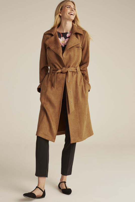 Suedette Trench Coat