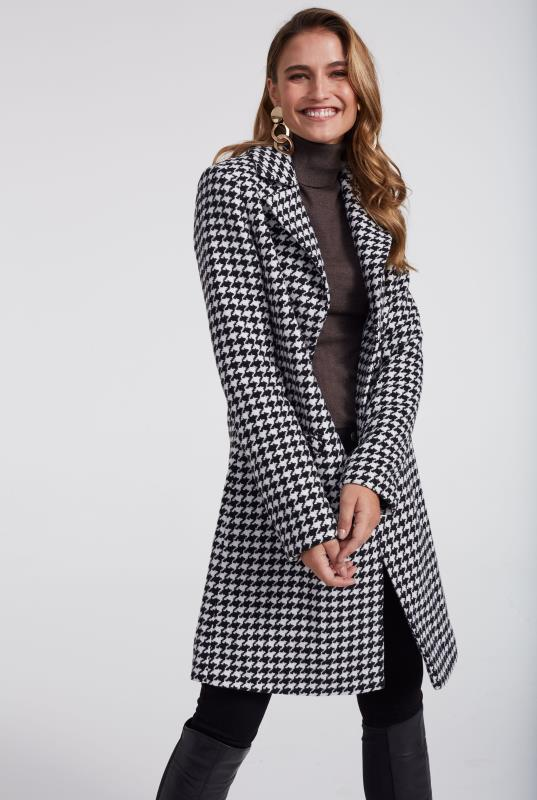 Black & White Dogtooth Coat