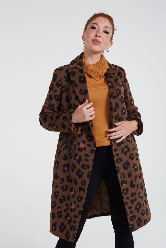 Animal Print City Coat