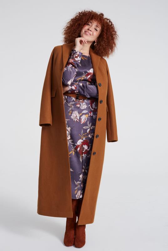 Wool Blend Maxi Coat