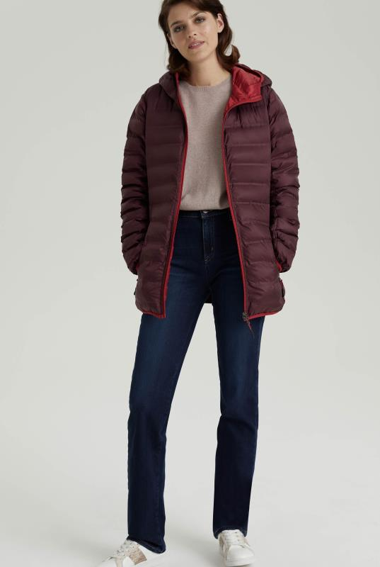 Burgundy Point Zero Reversible Packable Jacket