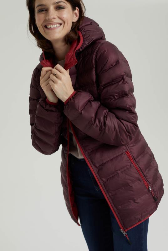 Burgundy Point Zero Reversible Packable Jacket
