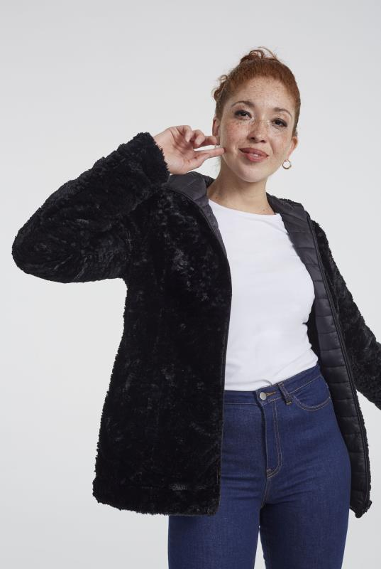 Tall Jackets Point Zero Reversible Faux Fur Jacket