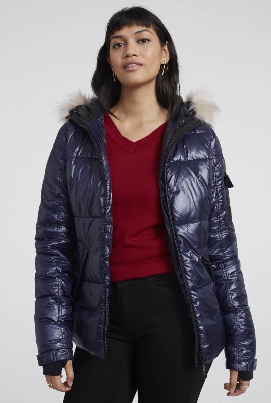 Hooded Faux Down Filled Short Puffer